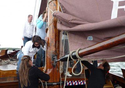 Segeltag auf einem historischen Botter-Boot